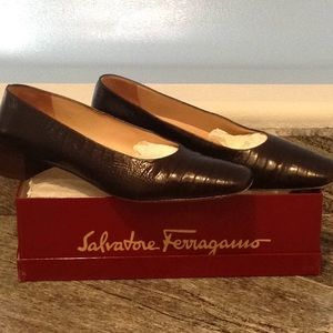 Salvatore Ferragamo Calf Croc Shoes